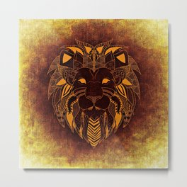 Artistic Lion - King of the Wilderness Metal Print