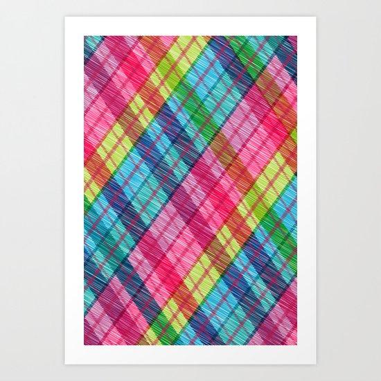 rainbow over argyll Art Print