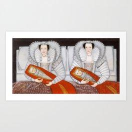 The Cholmondeley Ladies - Twin Art Art Print