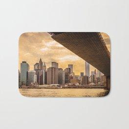 New York city skyline at sunset Bath Mat
