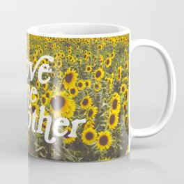 Love One Another Sunflowers Coffee Mug