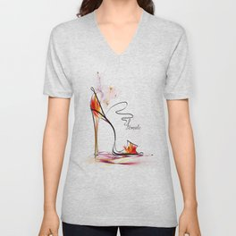 high heel Unisex V-Neck