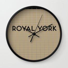 ROYAL YORK | Subway Station Wall Clock