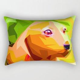Abstract Dog Rectangular Pillow