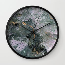 Moss Agate 5 Wall Clock