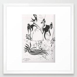 Mushroom Gypsy Framed Art Print