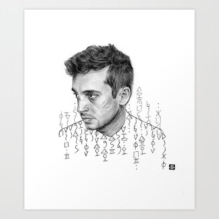 the Blitz cipher Art Print