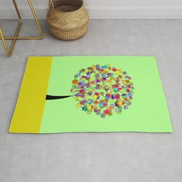 Tree of colors Rug