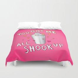 You Got Me All Shook Up Duvet Cover