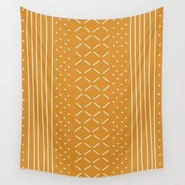 Milenesa Mustard Mud Cloth Wall Tapestry