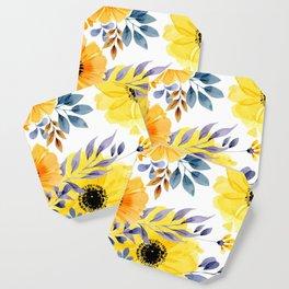 FLOWERS WATERCOLOR 10 Coaster