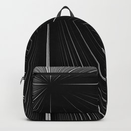 White rays focusing through black background Backpack