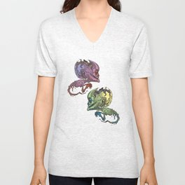 elderly waterhead fetus zombie Unisex V-Neck