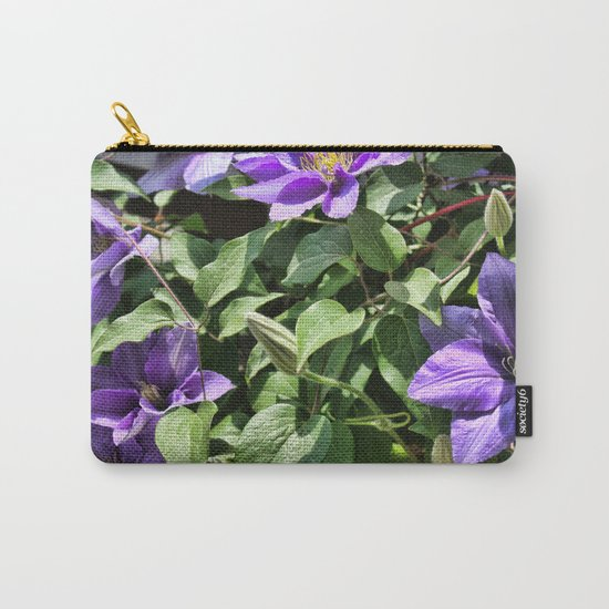Clematis Flowers and Vines Carry-All Pouch