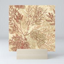 Warm Seaweed Pattern Mini Art Print