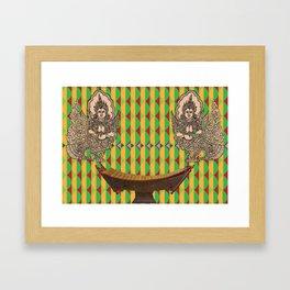 Burmese Angels and Xylophone Canvas print Framed Art Print