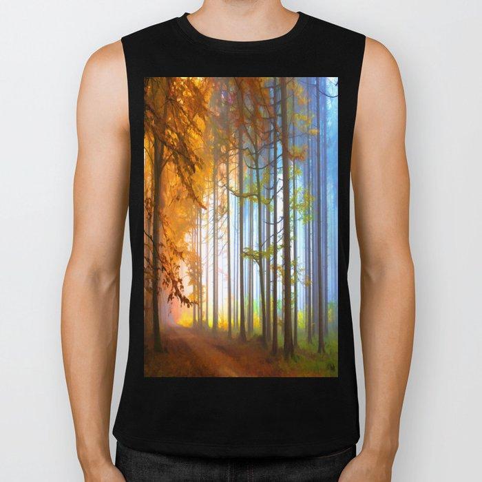Ethereal Forest  Biker Tank