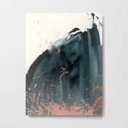 Sapphire an Gold Abstract [2] by Alyssa Hamilton Art Metal Print