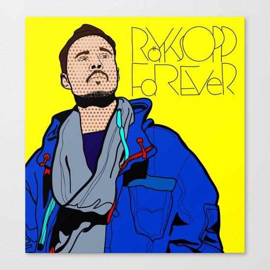 Röyksopp Forever Roy Lichtenstein Inspired Portrait 1 Canvas Print