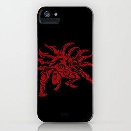 Kurama Tribal Red iPhone Case