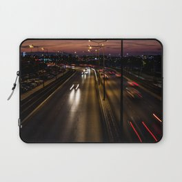 Sunset on the seaside street of Izmir (Turkey) Laptop Sleeve