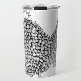 Zentangle  Funky Chicken Illustration Travel Mug