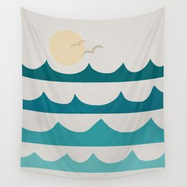 Abstract Waves Wall Tapestry