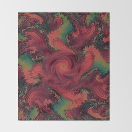 Red Storm Throw Blanket