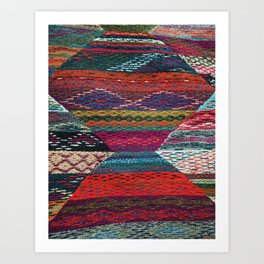 ARTERESTING V45 - Boho Traditional Moroccan Colored Design Art Print