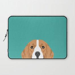 Beagle dog head cute pet portrait beagles lovers pure breed dog gifts Laptop Sleeve