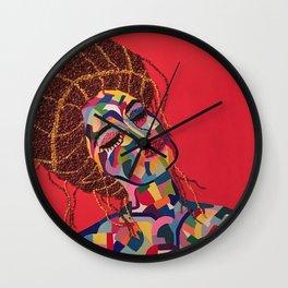 Pop Art woman face colors Fauve Lady 4 rock Wall Clock