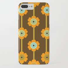 Cool Cat - minimal retro vibes floral flower power 1970s style throwback colors decor 70's Slim Case iPhone 7 Plus