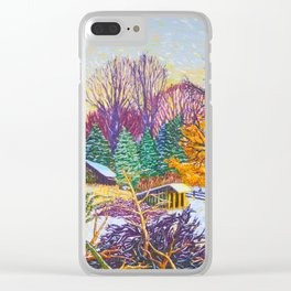 Horse Shed in Winter Clear iPhone Case