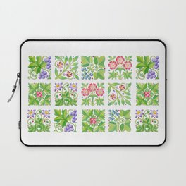 Tudor Flowers Laptop Sleeve