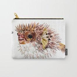 Little cute Fish, Puffer fish, cut fish art, coral aquarium fish Carry-All Pouch