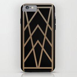 BLACK&GOLD 2 (abstract artdeco geometric) iPhone Case