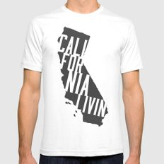 California Livin' by Reformation Designs White SMALL Mens Fitted Tee