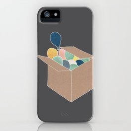 Boxed Balloons iPhone Case