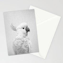 White Cockatoo - Black & White Stationery Cards