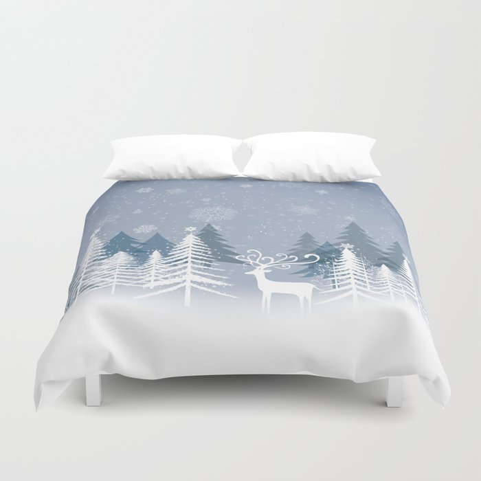 Lonely Winter Duvet Cover