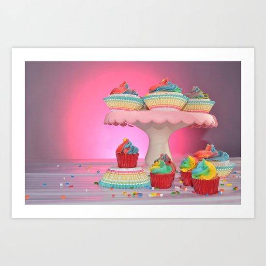 cupcakes in studio Art Print