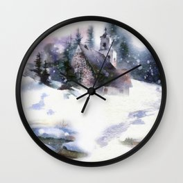 Christmas Road Wall Clock