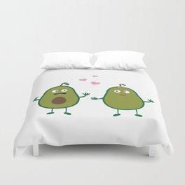 Avocados in love Duvet Cover