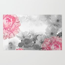 ROSES PINK WITH CHERRY BLOSSOMS Rug
