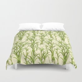 Sugar Cane Exotic Plant Pattern Duvet Cover