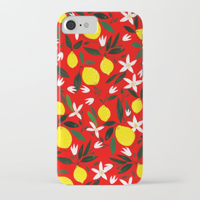 lemons red iphone case