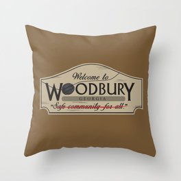 Welcome to Woodbury Throw Pillow