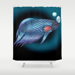 Sammy the Betta Shower Curtain