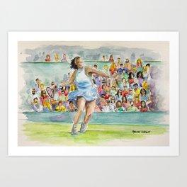 Serena Williams_Pro tennis player Art Print