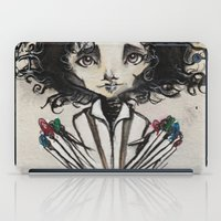 edward scissorhands iPad Cases featuring Edward Scissorhands by Estrela de Papel